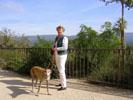 Daimbler is een reislustige hond, altijd mee op vakantie in de lekkerste hotels en huizen.<br />(Eugène en Heleen de Rijk)